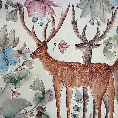 Vintage Portugese Pottery Tray-Deer