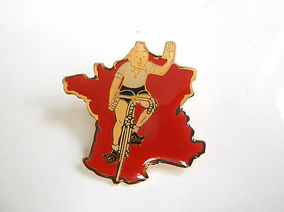Rare pin's Tintin Cyclisme  Tour de France