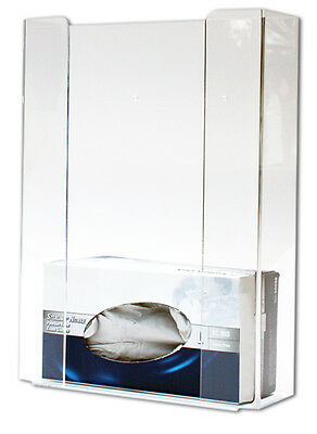 Triple Glove dispenser box holder clear perspex inc fitting wall mounted storage
