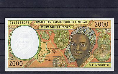 CONGO Central AfricanStates Africa 2000 Francs 1994 UNC p-103Cb Scarce Year