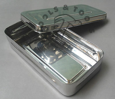 Stainless Steel Instrument Storage Box Tools Jewelry Surgical Medical Veterinary