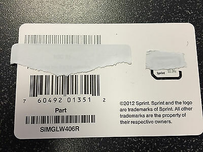 Sprint Boost Ting Freedompop iPhone 5 Sim card Brand new SIMGLW406R