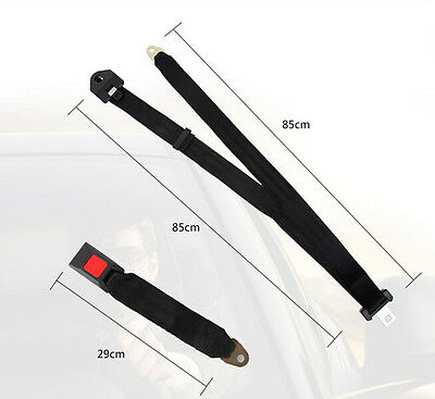 Universal 3 Point Adjustable AUTO Car SUV Truck Seat Lap Belts Safety Travel New