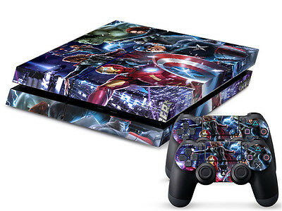 Avengers Heroes 352 DECALSKIN PROTECTIVE STICKER for SONY PS4 CONSOLE CONTROLLER