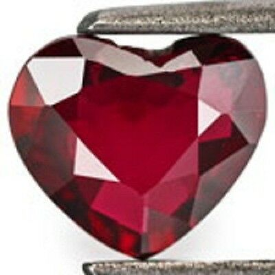 Lab Created Hydrothermal Ruby Heart Shape Loose stone (3x3-13x13mm) Top Quality