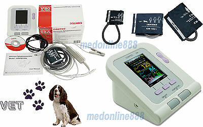 Vet Veterinary Digital Blood Pressure Monitor PR Spo2 Probe for pets +SW 3 cuffs