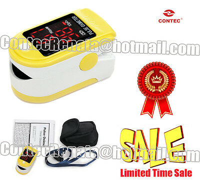 New CONTEC Fingertip Pulse Oximeter/Spo2 monitor with OLED display CMS50DL
