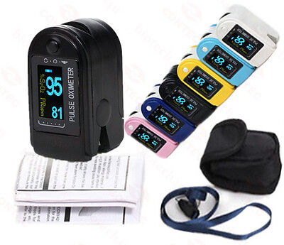 CE FDA CMS-50D PULSE OXIMETER/ SPO2 MONITOR with wave forms