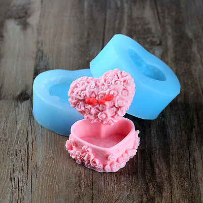 Nicole Easy Unmold 3D Jewel Case Shaped Decorative Silicone Soap Candle Molds