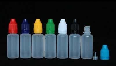 20ml LDPE liquid dropper bottle tamper proof child proof chidproof cap 10 sets