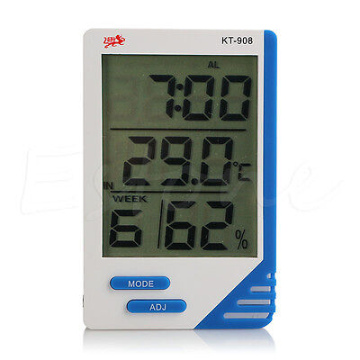 Indoor Outdoor Digital Thermometer Hygrometer Dual Sensor MAX-MIN Alarm KT-908