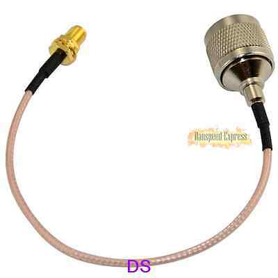 HOT 20cm 1m N Male To RP SMA Female Nut Bulkhead RG316 Extension Coaxial Cable