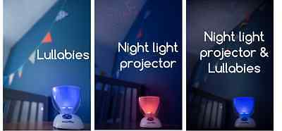 Baby Nursery/Cot Mobile Musical Night Light Show Projector Sleep Aid
