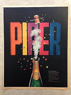 "Vintage Ad: 1968 PIPER champagne ""the most civilized drink"""