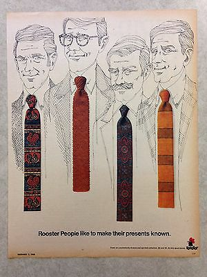 "Vintage Ad: 1968 ROOSTER ties ""like to make their presents known"""
