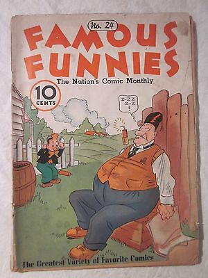 July 1936  Famous Funnies No. 24 The Nation's Comic Monthly