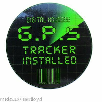 GPS TRACKER SECURITY motorcycle decal sticker graphic x 2