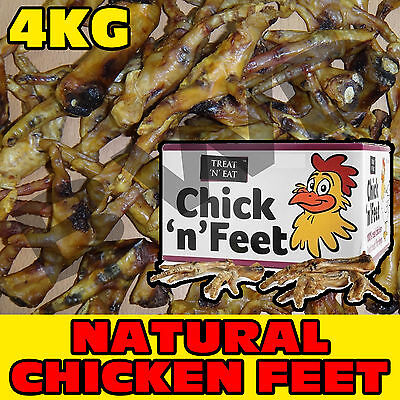 4Kg Kilo Large Dried Natural Tasty Chicken Feet Dog Pet Chew Food Snack Treat