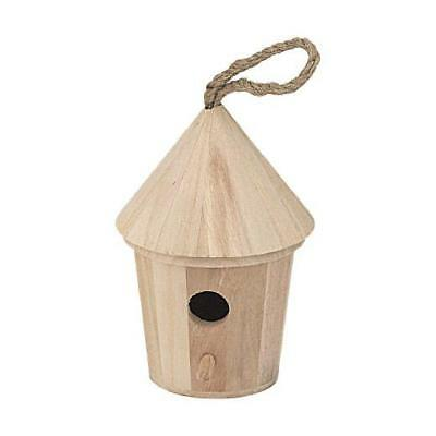 Bare Wood Bird House - Round Large #8186