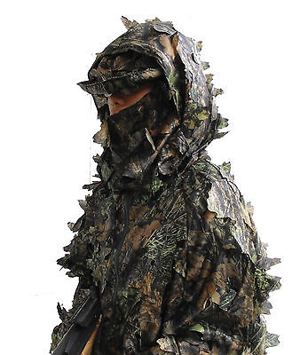 3D tree leaf (leafy) camo suit, full body coverage, light fabric, size M to XXL
