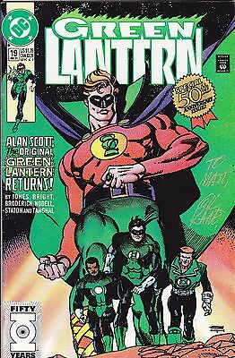 Green Lantern #19 (Dec 1991, DC) Signed by Gil Kane and Creator Martin Nodell