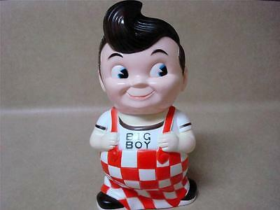 Vintage Bob's Big Boy Collectible Coin Money Bank Hard Vinyl Plastic Retro Era!!