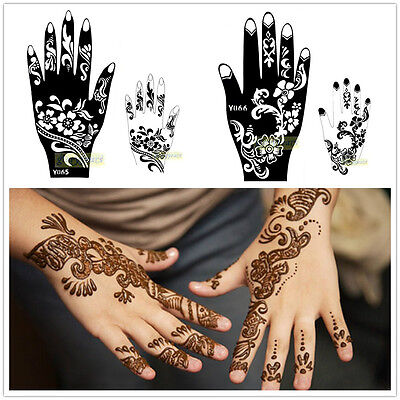 1pc India Professional Large Mehndi Henna Stencil for Body Art Airbrush Template
