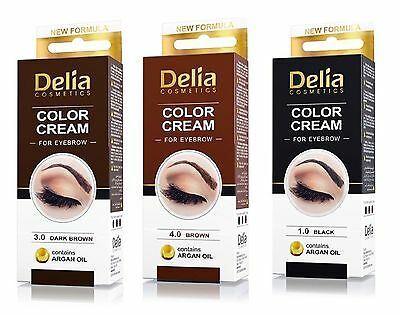 DELIA HENNA CREAM Eyebrow Eyelashes Professional Colour Tint Tint Kit Set