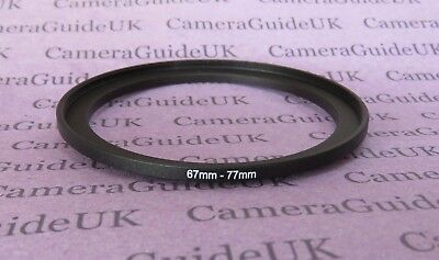 67mm to 77mm Male-Female Stepping Step Up Filter Ring Adapter UK