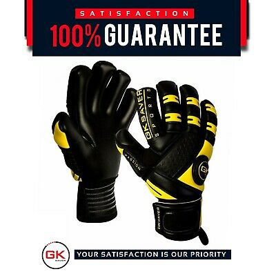 Goalkeeper Gloves Football  Negative Cut GK Saver Passion Black 6,7,8,9,10,11