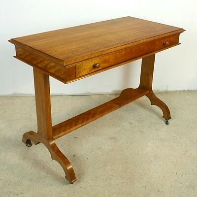 Scottish Victorian Satin Walnut Library Table by Wylie & Lochhead-UK Delivery£95