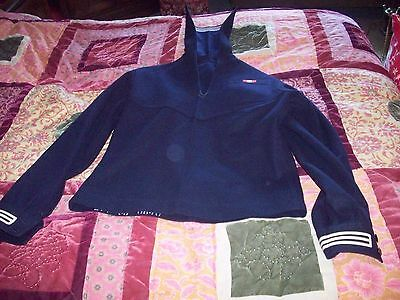Vintage Complete Sailor Suit Of Uss Yosemite Size 38R Vg Cond No Reserve