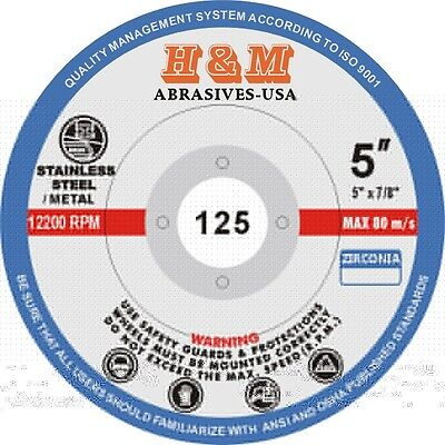 """10 Zirc  FLAP DISC 5-inch x7/8"""" 80 grit Sanding Grinding Wheel for Angle Grinder"""