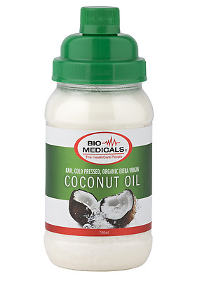 Extra Virgin Coconut Oil 700ml, Certfied Organic Raw & Cold Pressed