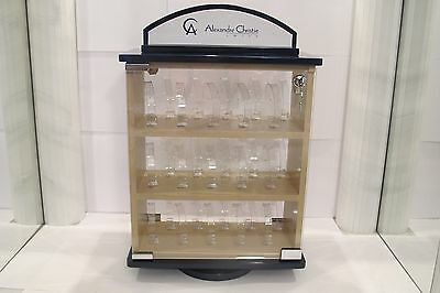 Watch Showcase plus 30 pieces of Clear Plastic Watch Bracelet Display Holder
