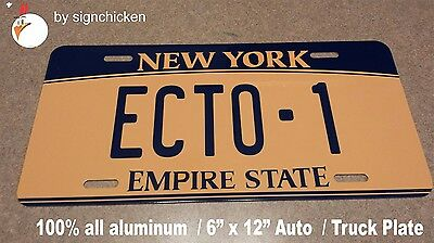 ECTO -1 Ghostbusters License Plate Replica , NEW VERSION - 2015  MOVIE PROP.