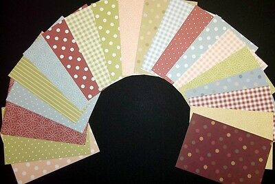 """COUNTRY  Basics Scrapbooking Papers x 20 *15cm x 10cm  (6"""" x 4"""")"""