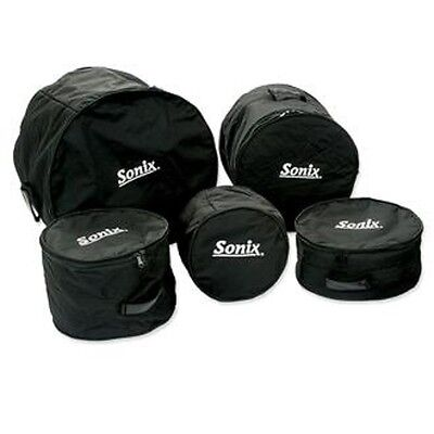 """Set of 5 SONIX Medium Weight Soft Bags/Cases for """"FUSION"""" Size Drums 008-100-424"""