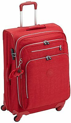 Kipling Youri Spin 68 Large Trolley Bag Spinner 4 Wheeled Tango Red RRP£185