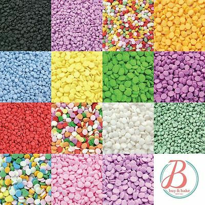 Edible Cupcake Cake Sprinkles Confetti Sequins and Dots Shapes - Various colours