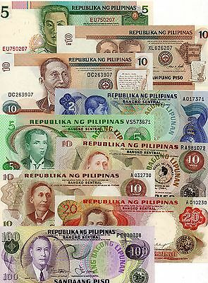 PHILIPPINES Asia set of 9 pcs all UNC all Different