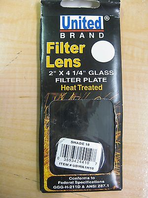"""United Glass Filter Plate, 2""""x 4.25"""" Heat Treated, Shade 10"""