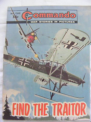 """Commando Comic War Stories In Pictures # 1548 """"find The Traitor"""" 1981"""