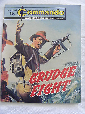 """Commando Comic War Stories In Pictures # 1588 """"grudge Fight"""" 1982"""