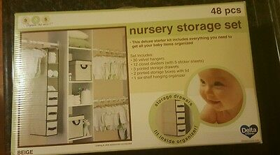 48 Pcs delta beige nursery storage set