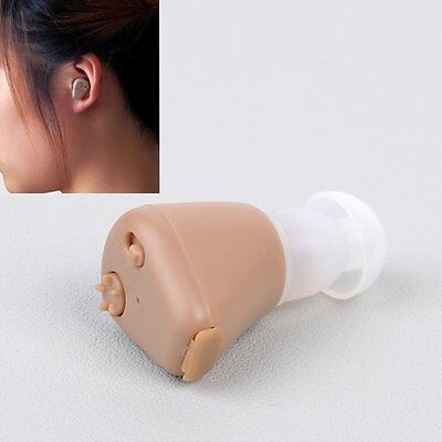 Rechargeable Mini In Ear Hearing Aid Adjustable Amplifier Case Audiphone【UK】