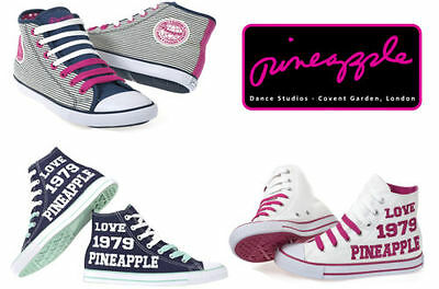 Womens Trainers White Hi Top Pumps From Pineapple Dance Star Studios Girls