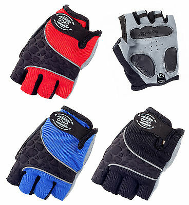 Gel Padded Sports Gloves Wheelchair Crutches Cycling Gym Fingerless Gloves