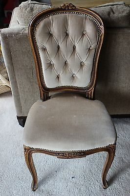 Antique Victorian Style Hand Carved Wood Parlor Chair