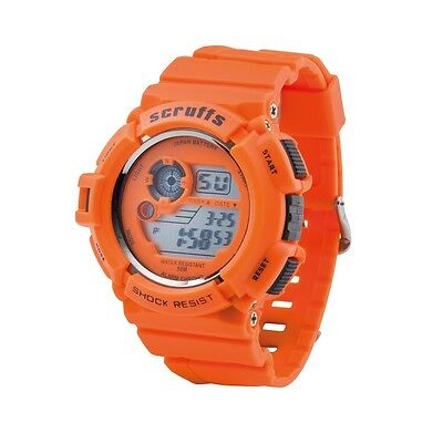 Scruffs Sports Digital Work Watch ORANGE - Shock & Water Proof - T51415.5
